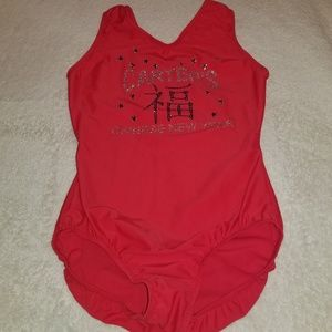 GYMNASTICS MEET LEOTARD AXS ADULT EXTRA SMALL